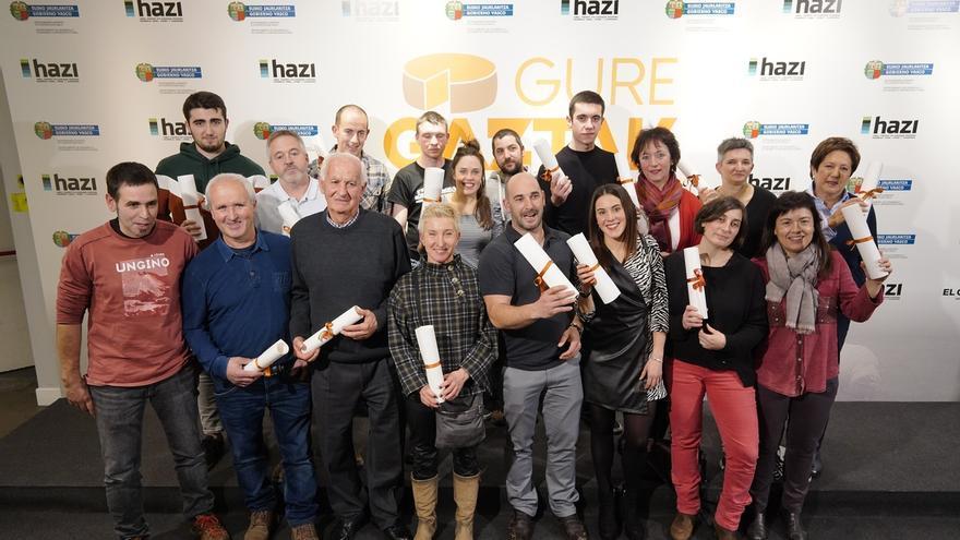 La sociedad vasca homenajea a los quesos de la D.O. Idiazabal y Artzai Gazta