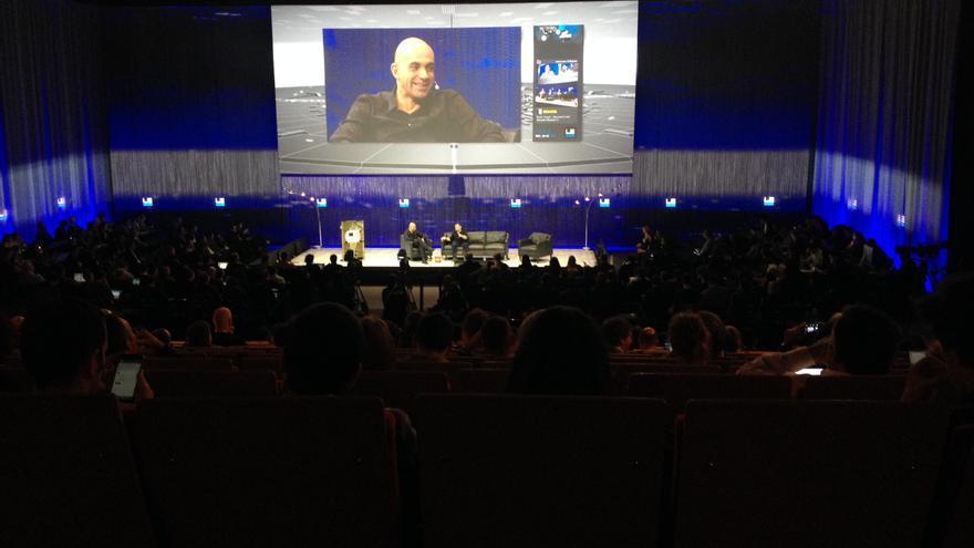Loic Le Meur, en el escenario principal de LeWeb 2013.