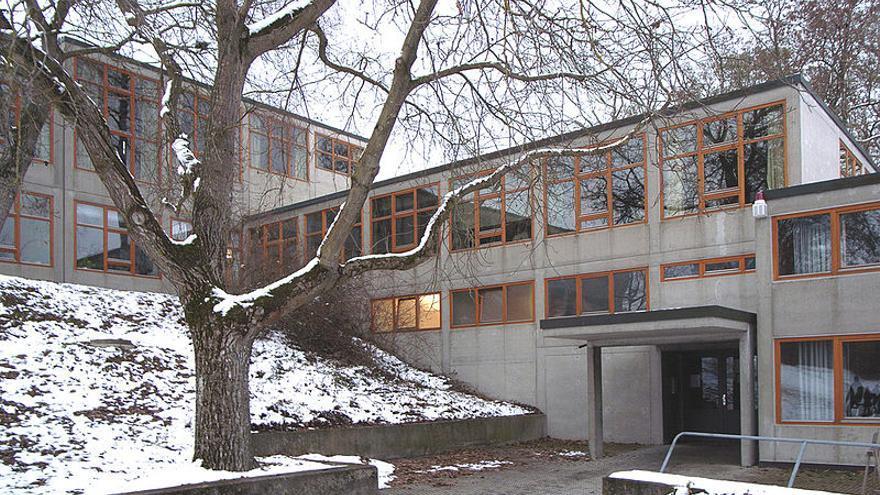 Edificio de la HfG de Ulm diseñado por Max Bill y terminado en 1955.
