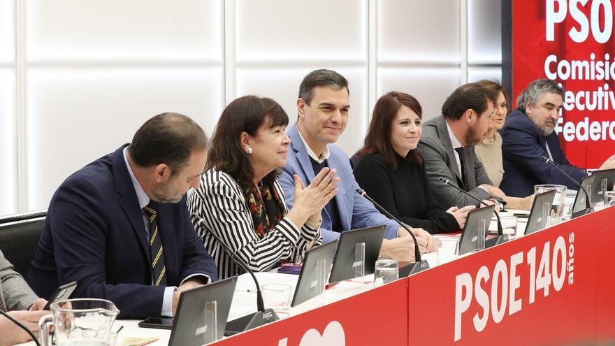 Pedro Sánchez durante la reunión de la Ejecutiva del PSOE el pasado lunes.