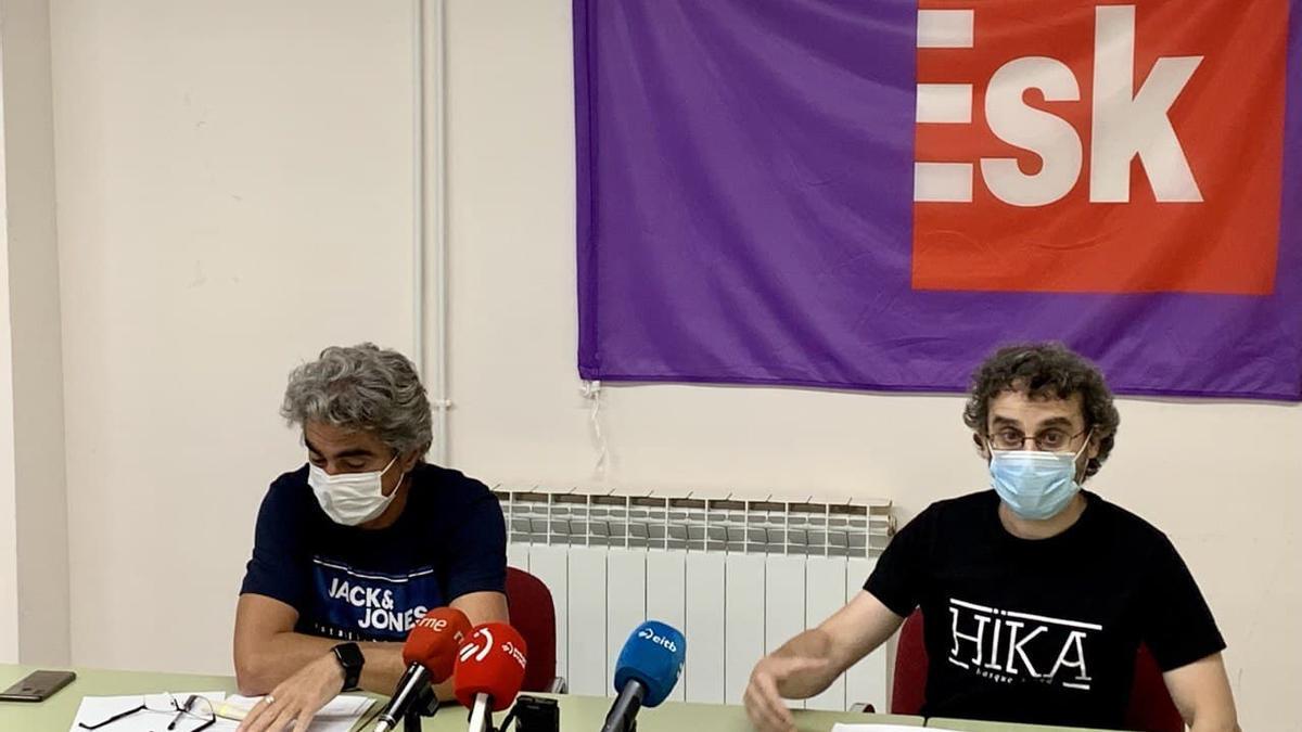 Patxi Nicolau y Julio Sánchez, este lunes en Vitoria