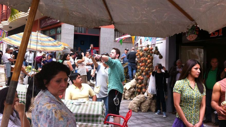 Escenario de rodaje en la Avenida de El Puente de la capital.