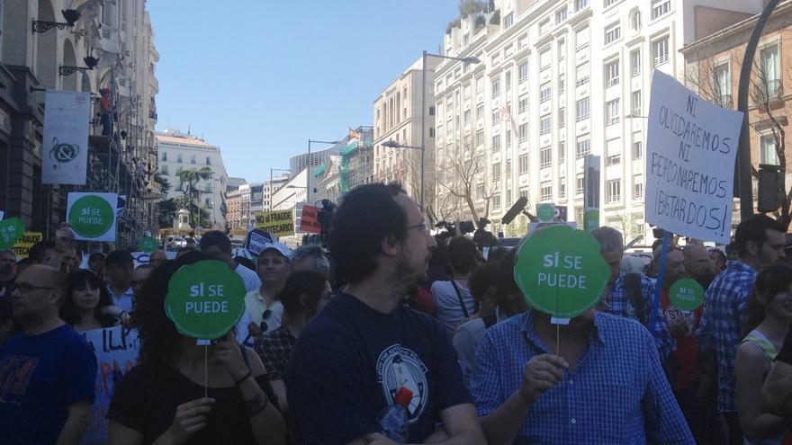 Protesta de la PAH en los alrededores del Congreso