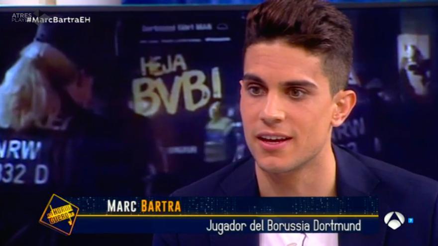 Bartra relata compungido en Antena 3 el atentado y adelanta su boda con Melissa Jiménez