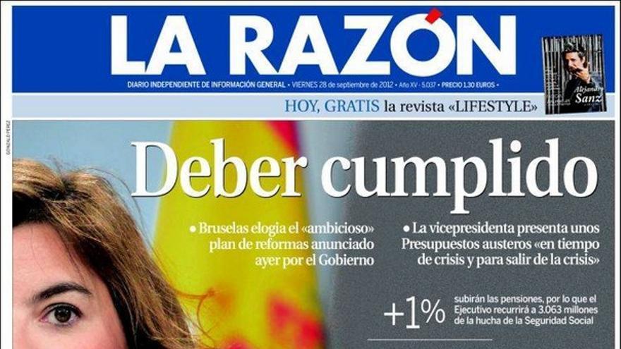 De las portadas del día (29/09/2012) #9