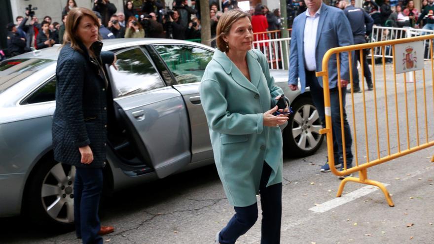 La presidenta del Parlament catalán, Carme Forcadell, a su llegada al Tribunal Supremo.