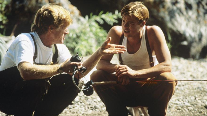 Redford, director, Brad Pitt, actor, en el Río de la vida.
