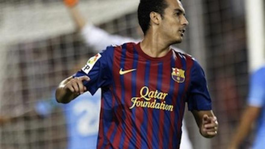 Pedro, durante un choque en la presente temporada. (Europa Press)