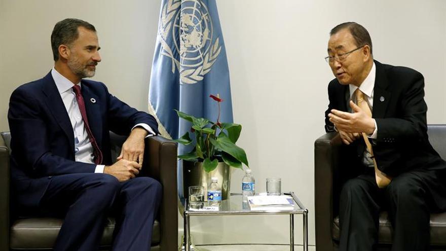 Ban Ki-moon agradece a Felipe VI la labor de España por la paz y contra el terrorismo