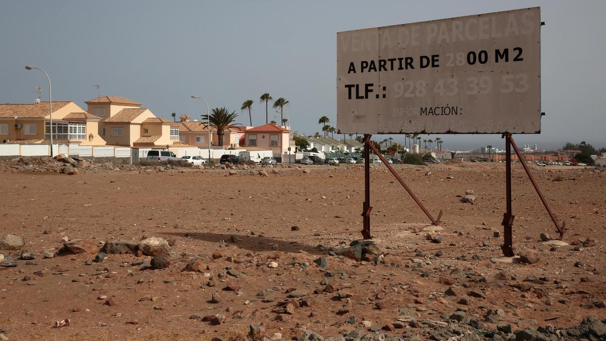 Terreno en El Hornillo, San Bartolomé de Tirajana, donde se iba a construir un parque comercial y 300 viviendas