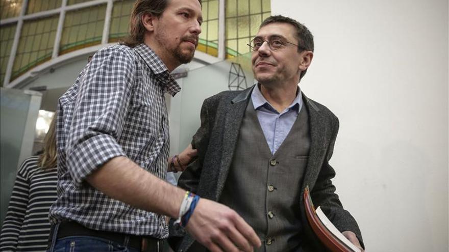 La irrupción de Ciudadanos crea un dilema estratégico a Pablo Iglesias y Juan Carlos Monedero.