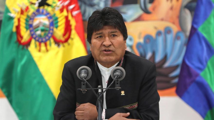 Evo Morales, en una comparecencia en La Paz tras las acusaciones de fraude.