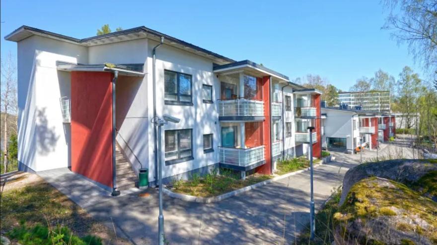 Uno de los complejos construidos como parte de la estrategia contra el sinhogarismo en Finlandia (Y-Foundation)