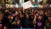 Participantes en la manifestación del 8M de Madrid. EFE