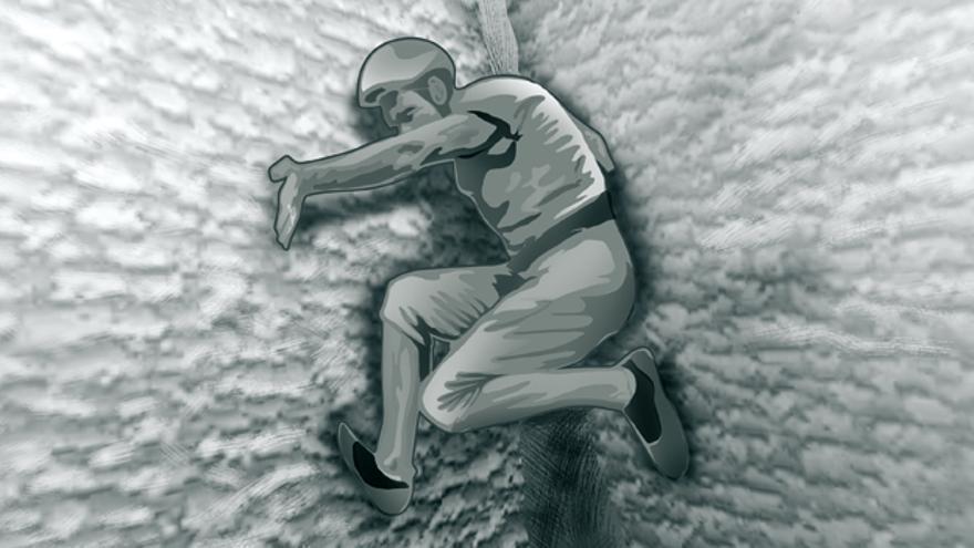 Imagen 9. Empotramiento del cuerpo en una chimenea.