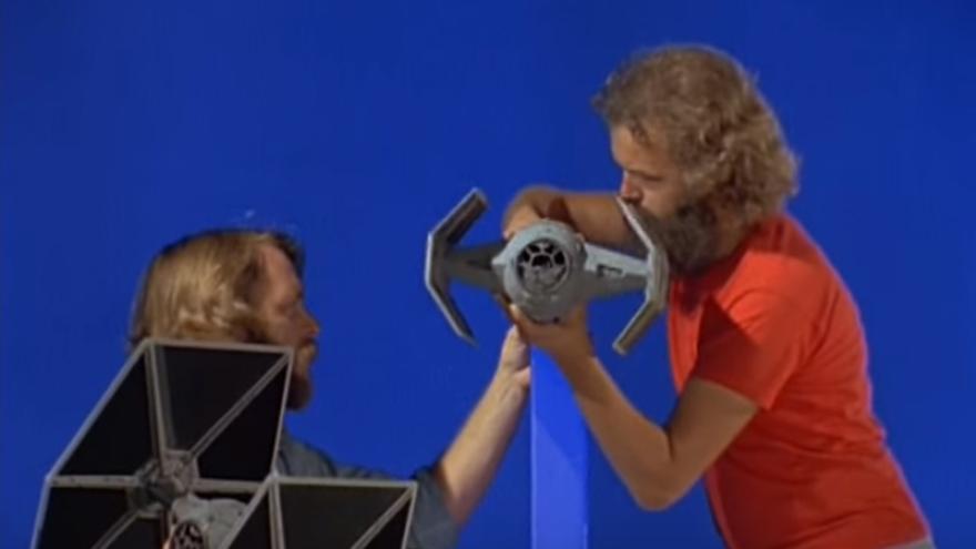Maquetas utilizadas durante el rodaje de 'La guerra de las galaxias'