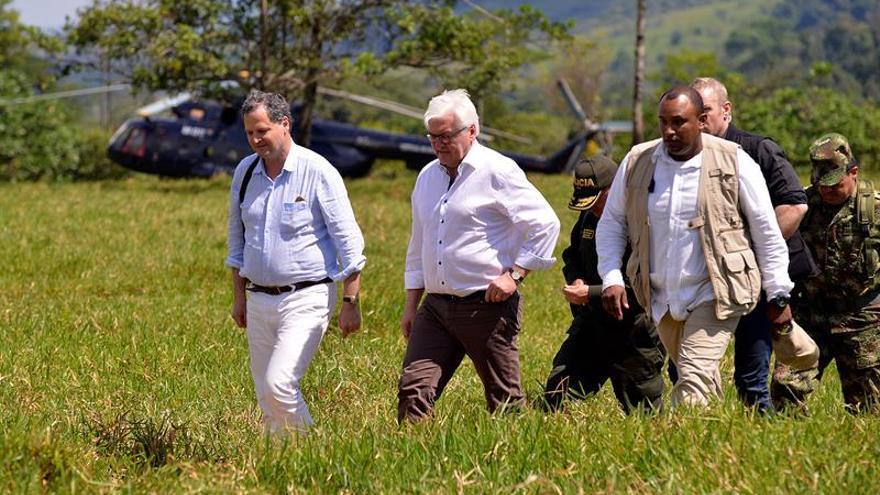 """Steinmeier dice paz de Colombia tendrá """"prueba de fuego"""" en zonas de las FARC"""