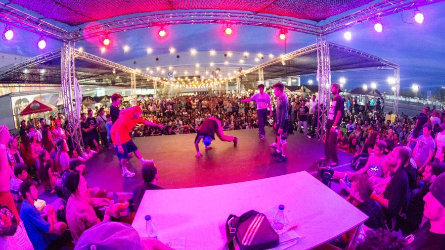 Un concurso de Breakdance en Mulafest 2014