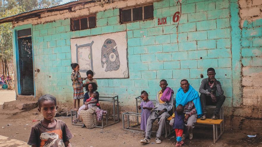 Desplazados internos en Shire, en Tigray (Etiopía).