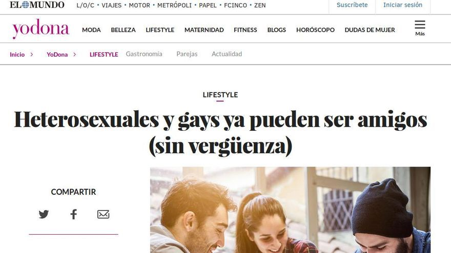 Noticia publicada en El Mundo.