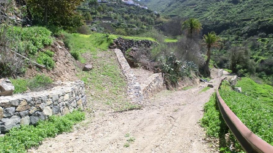 Acceso agrícola en Tejeda.