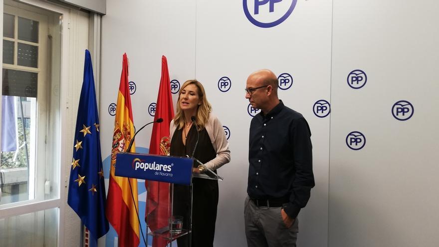 """Beltrán dice que Chivite es """"una presidenta desnortada"""" que está """"encadenada a Bildu"""""""