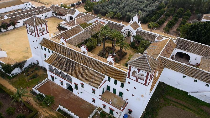 Vista aérea de la Hacienda Guzmán