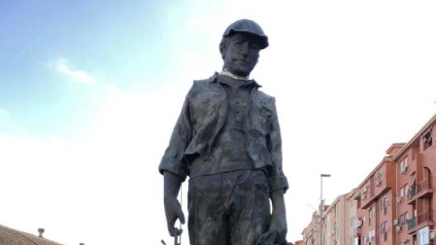 Homenaje al minero en Aldea Moret, Cáceres