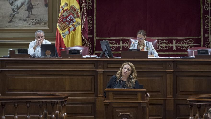 La consejera de Políticas Sociales, Cristina Valido (CC).