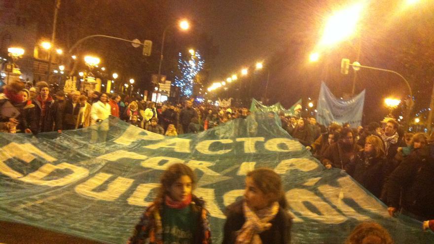 Manifestación contra la reforma educativa de Wert, en Madrid. / Belén Picazo
