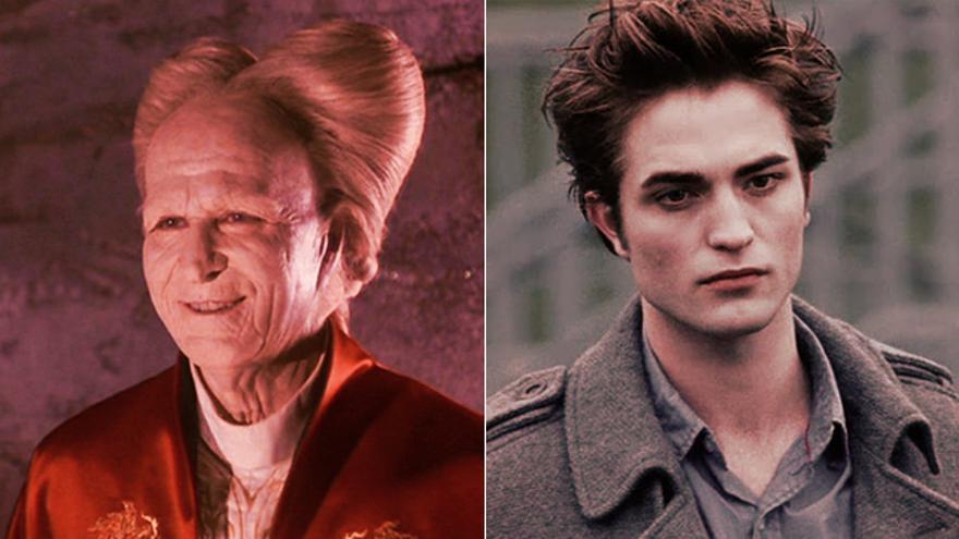A la izquierda: 'Drácula, de Bram Stoker' (1992). A la derecha: 'Crepúsculo' (2008)