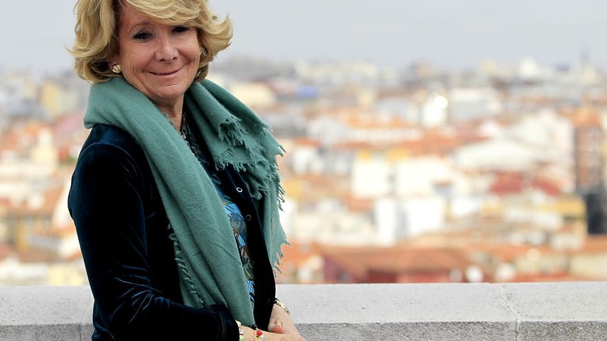 Esperanza Aguirre, candidata del PP a la alcaldía del Ayuntamiento de Madrid / Marta Jara