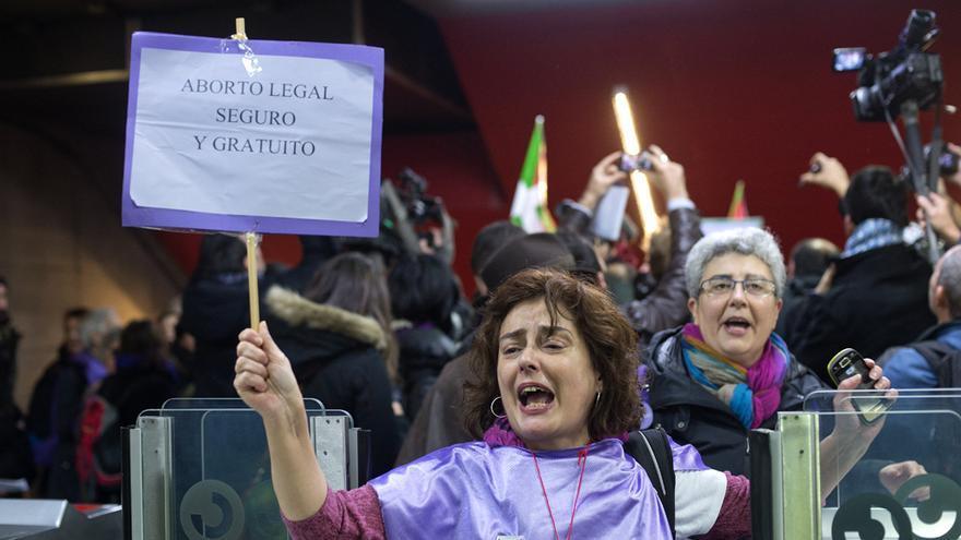 Manifestación contra la reforma de la ley del aborto.