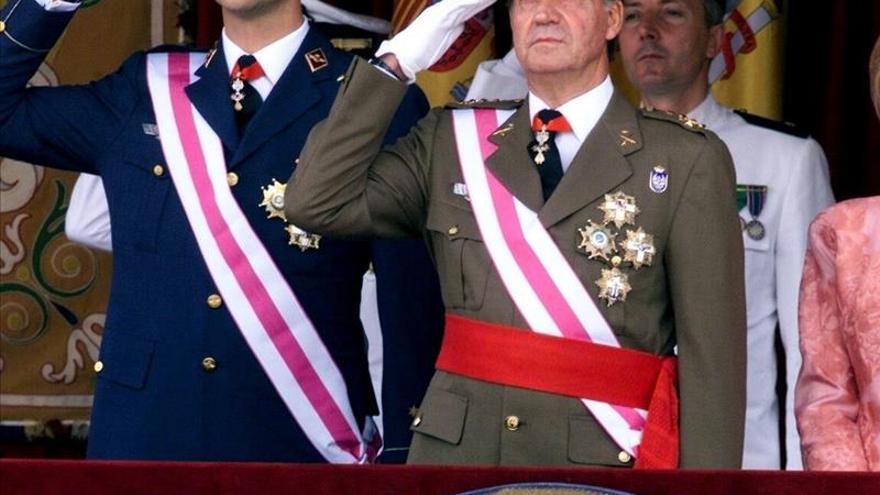 El Rey y el Príncipe estarán juntos hoy en un acto castrense en El Escorial
