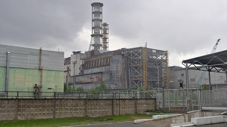 El reactor 4 en la planta de Chernóbil