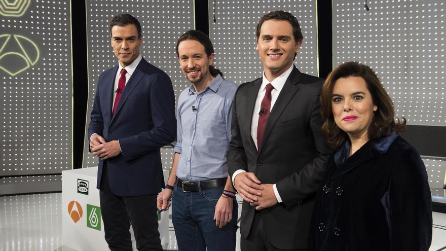 Pablo Iglesias ganó el Debate a 4 y Rajoy y Sánchez empataron, según el CIS