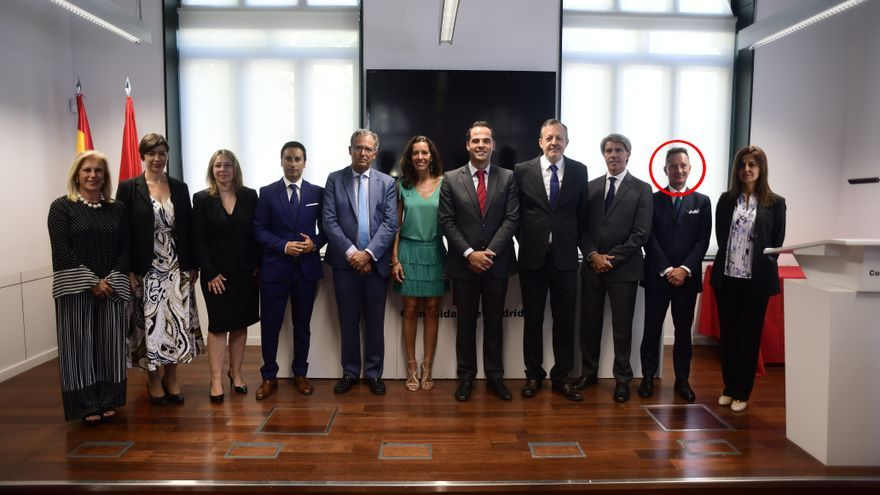 Miguel Ángel Jiménez durante el acto de su nombramiento como secretario general técnico presidido por el vicepresidente de la Comunidad de Madrid, Ignacio Aguado, en septiembre de 2019.