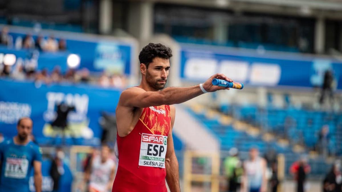 Samuel García, atleta del Tenerife CajaCanarias y de la selección española.