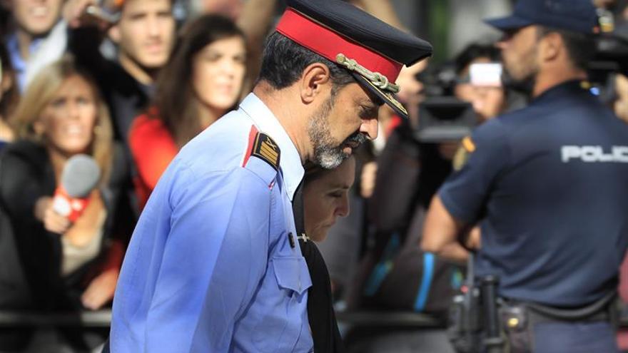 Trapero, de uniforme en su primera comparecencia en la Audiencia Nacional