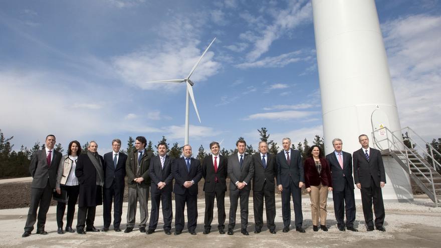 Inauguración en 2015 de otro parque en Guitiriz (Lugo) en el que Gas Natural Fenosa no puso obstáculos para divulgar su plan de seguimiento de las aves