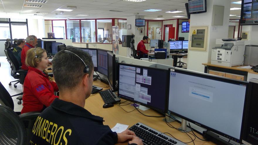 Sala de Operaciones del 112 en Las Palmas de Gran Canaria.