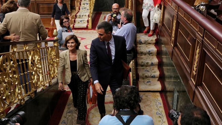 """Calvo celebra que el sistema democrático, cuestionado por el PP, ha superado una """"prueba de fuego"""" con la investidura"""