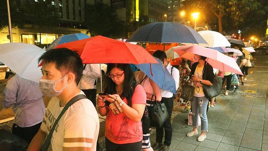 Taiwán paralizada y en alerta máxima ante la llegada del tifón Nepartak