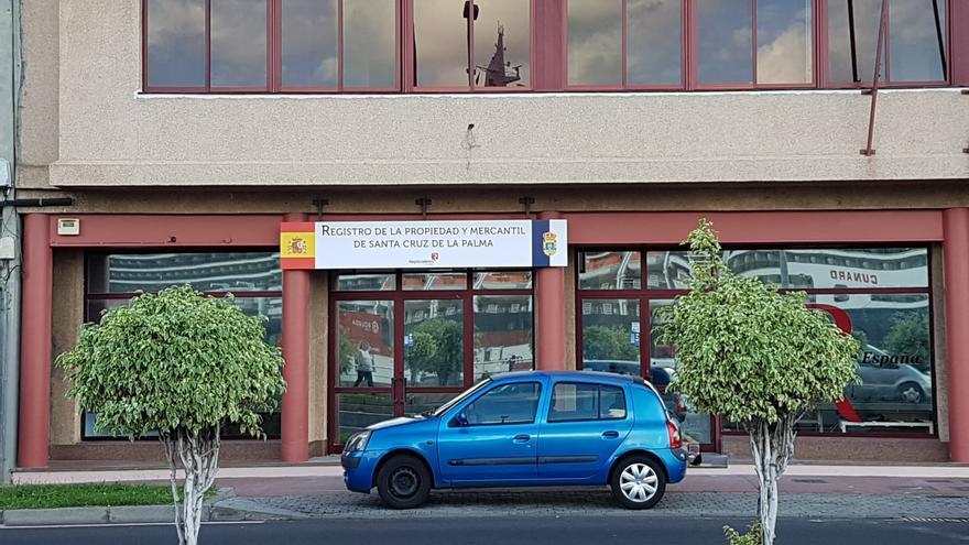 La sede del Registro de La Propiedad y Mercantil en la Avenida de Los Indianos de Santa Cruz de La Palma.