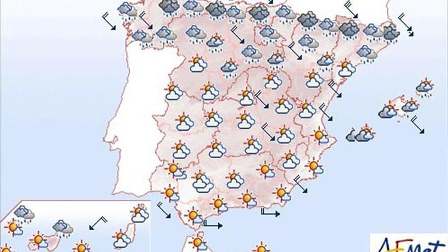 Lluvias y viento en el noreste y nevadas intensas en el Pirineos para hoy