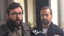 Txema Santana, secretario general de UPCC y Juan Márquez, diputado de Podemos en el Parlamento de Canarias