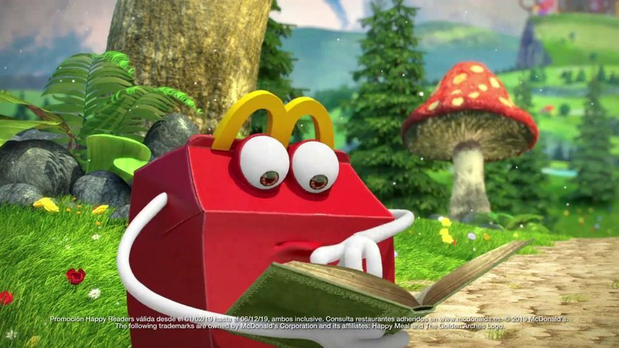 Captura de la campaña Happy Readers de MacDonalds