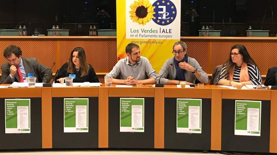 Un momento del acto celebrado en Bruselas organizado por Compromís