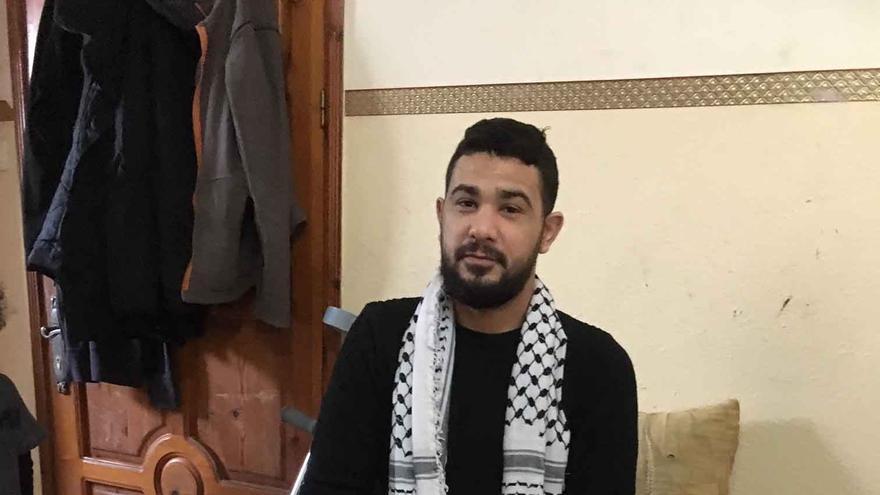 Adham Taharawi recibió un disparo en la pierna en la 'Gran Marcha del Retorno'
