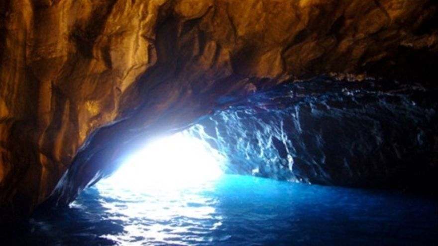 Interior de la Cueva Bonita de Tijarafe. (Foto: www.lapalma.es)